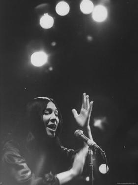 Cree Indian Folk Singer Buffy Sainte Marie, During a Concert by Arthur Schatz