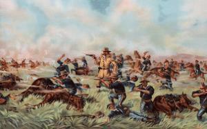 Custer Massacre at Big Horn, Montan June 25, 1876 by Arthur Wagner
