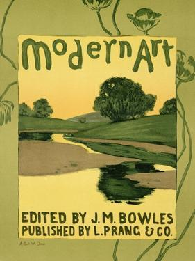 """Reproduction of a Poster Advertising the """"Modern Art"""" Review Magazine by Arthur Wesley Dow"""