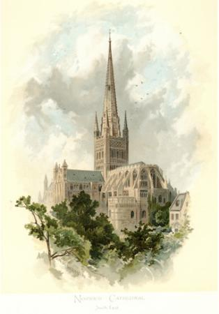 Norwich Cathedral, South East