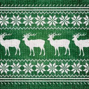 Green Nordic Sweater I by Artique Studio