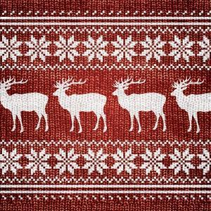 Red Nordic Sweater I by Artique Studio