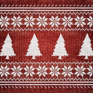 Red Nordic Sweater II by Artique Studio