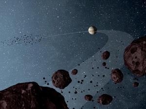 Artist's Concept of Jovian Trojans Asteroids