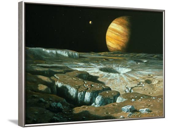 Artist's Impression of Jupiter Over Europa-Ludek Pesek-Framed Photographic Print