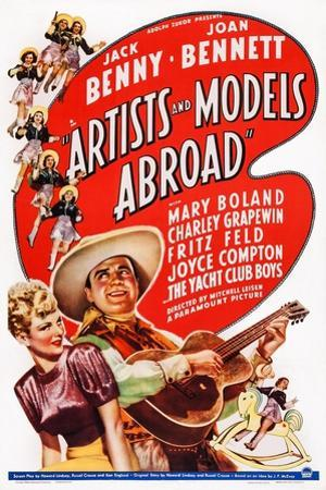 Artists and Models Abroad, Joan Bennett, Jack Benny, 1938