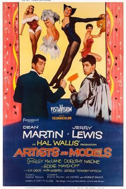 Artists and Models, from Left: Dean Martin, Shirley Maclaine, Jerry Lewis, 1955