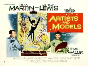 Artists and Models, UK Movie Poster, 1955