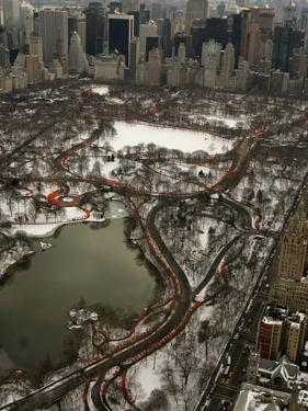 Artists Christo and Jeanne-Claude's the Gates Wind Their Way Through Central Park in New York