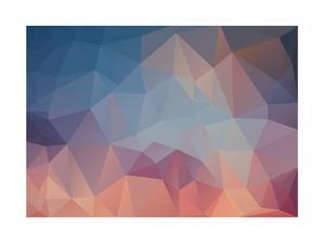 Abstract Triangle Geometrical Multicolored Background by artnis