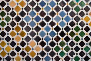 Colorful Tiles, Arabic Style, In The Alhambra, Granada by ArtOfPhoto