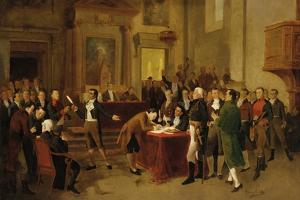 Signing of the Declaration of Independence by Arturo Michelena