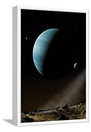 Artwork of Exoplanet HD69830--Framed Art Print
