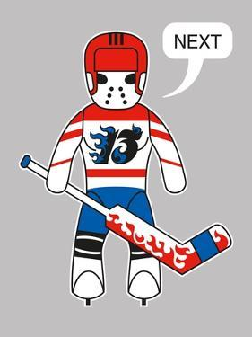 Funny Toy Character with Hockey Goalkeeping Equipment. Raster Image (Check My Portfolio for Options by Arty
