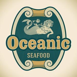 Retro-Styled Seafood Label Including An Image Of Mermaid by Arty
