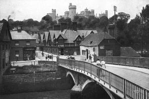 Arundel Castle and Bridge, Arundel, West Sussex, C1900s-C1920s