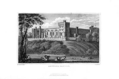 Arundel Castle, West Sussex, 1829 by J Rogers