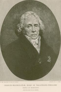 Charles Maurice De Talleyrand-Perigord by Ary Scheffer