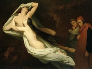 Francesca and Paolo, 1854 by Ary Scheffer