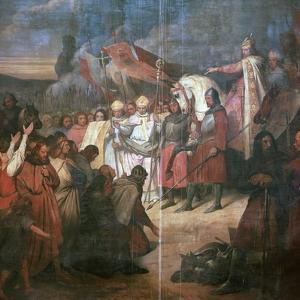 Painting of Charlemagne, 8th century by Ary Scheffer