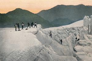 'Crossing a Glacier, Mount Rainier', c1916 by Asahel Curtis