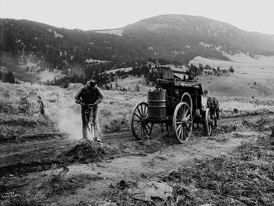 Drilling Rock, Montana, 1916 by Asahel Curtis