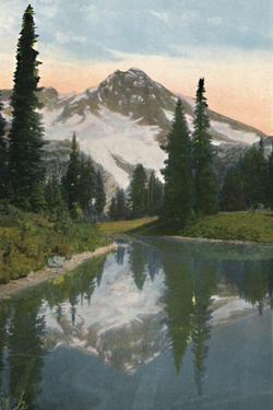 'Mount Rainier and Reflection Lake', c1916 by Asahel Curtis