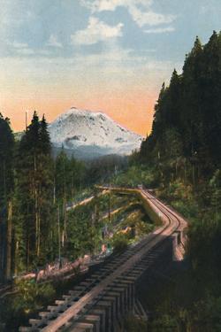 'Mount Rainier from the C. M. & P. S. R. R.', c1916 by Asahel Curtis