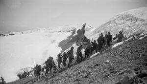 On the Summit of Rainier, 1909 by Asahel Curtis