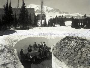 Road Through Snow, Near Paradise Inn, 1921 by Asahel Curtis
