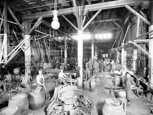 Seattle Brewing & Malting Co., Cooper Shop, 1914 by Asahel Curtis