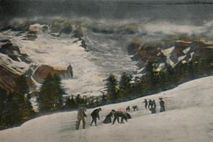 'Snowballing in Paradise Valley in Midsummer, Mt. Rainier National Park', c1916 by Asahel Curtis
