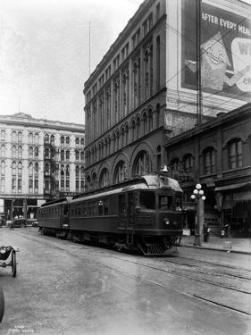 Tacoma Electric Interurban at Station, 1924 by Asahel Curtis