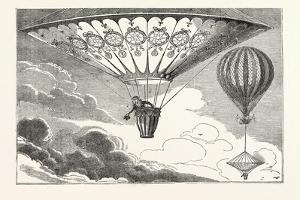 Ascent of the Vauxhall Balloon and Mr. Cocking's Parachute