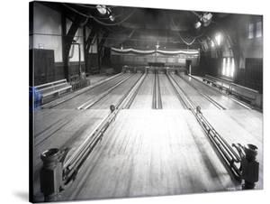 Bowling Alley, Madison Park, Seattle, 1909 by Ashael Curtis