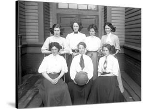 Girls' Basketball Team, Central School, Seattle (May 1909) by Ashael Curtis
