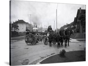 Seattle Fire Department Horse-Drawn Steam Pumper, 1907 by Ashael Curtis