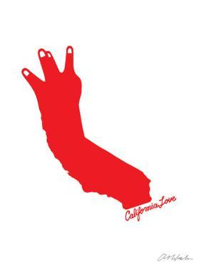 California Love (red on white) by Ashkahn