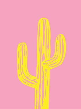 Cactus on Pink by Ashlee Rae
