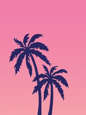 Palm Tree on Pink by Ashlee Rae