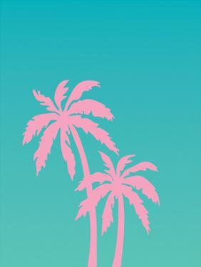 Pink Palm Tree by Ashlee Rae