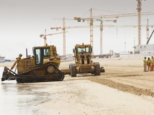 Workers Creating a New Beach Resort on Former Sea Bed Land in Dubai by Ashley Cooper