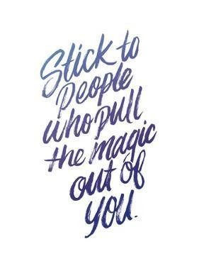 Stick To People Midnight Gradient by Ashley Santoro