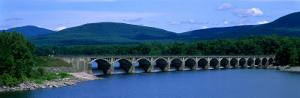 Ashokan Reservoir and Bridge, Catskills, New York State, USA