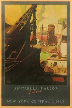 Ashtabula Harbor Travel Poster