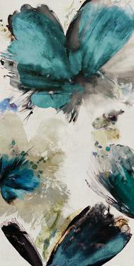 Blue Ribbon Blooms I by Asia Jensen