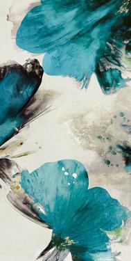 Blue Ribbon Blooms II by Asia Jensen