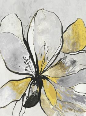 Outlined Floral II Yellow Version by Asia Jensen