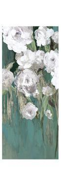 Roses on Teal II by Asia Jensen