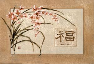 Asian Happiness flowers Art Print Poster